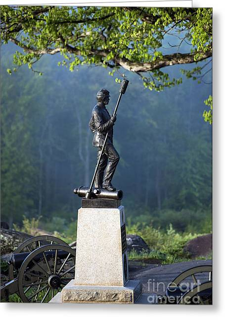 Devil's Den Monument At Gettysburg Greeting Card by John Greim