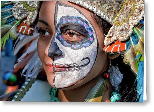 Dia de los Muertos - Day of the Dead 10 15 11 Procession Greeting Card by Robert Ullmann