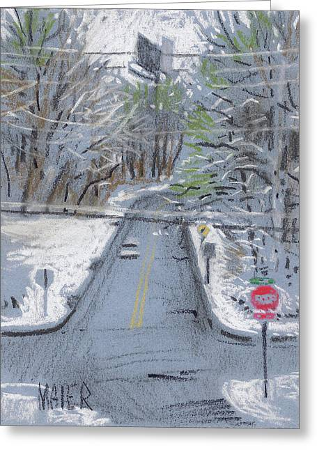 Snow Pastels Greeting Cards - Dickson Road II Greeting Card by Donald Maier