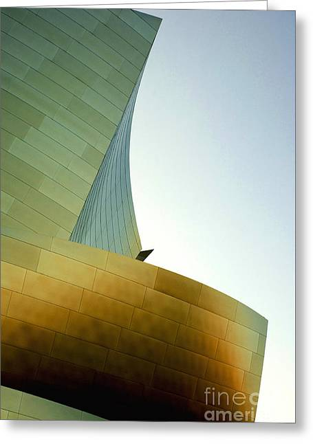 Metal Sheet Greeting Cards - Disney Concert Hall 6 Greeting Card by Micah May