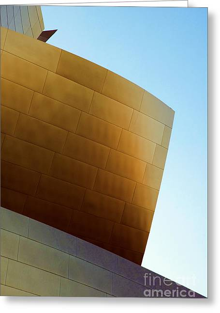 Metal Sheet Greeting Cards - Disney Concert Hall 7 Greeting Card by Micah May