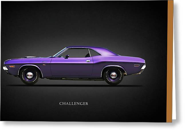 Rt. Greeting Cards - Dodge Challenger Greeting Card by Mark Rogan