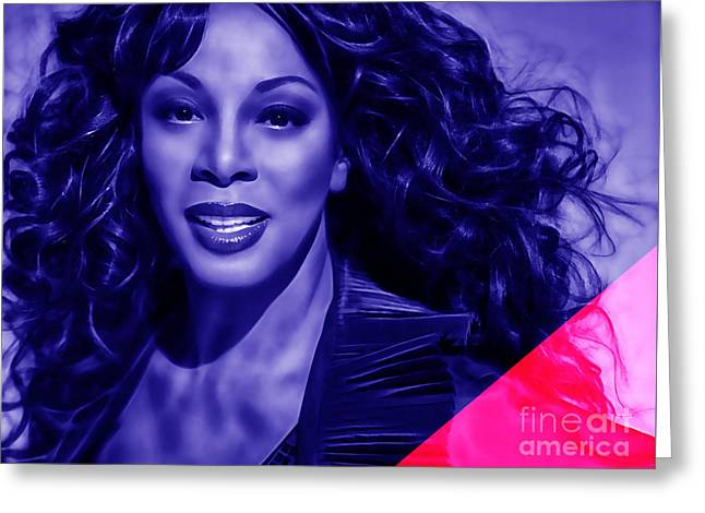 Singer Greeting Cards - Donna Summer Collection Greeting Card by Marvin Blaine