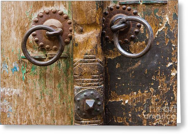 Knob Greeting Cards - Door Knob Greeting Card by Juan  Silva