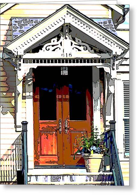Door Series Greeting Card by Ginger Geftakys