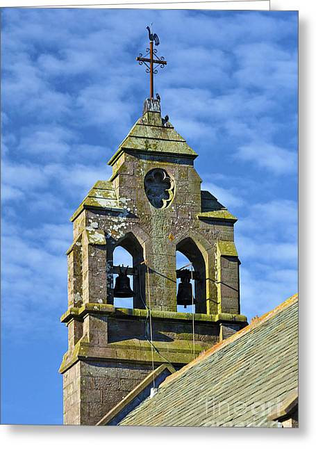 Weathervane Greeting Cards - Double bellcote. Greeting Card by Stan Pritchard