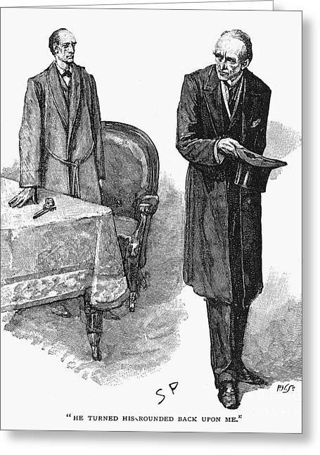 Interviewed Greeting Cards - Doyle: Sherlock Holmes Greeting Card by Granger