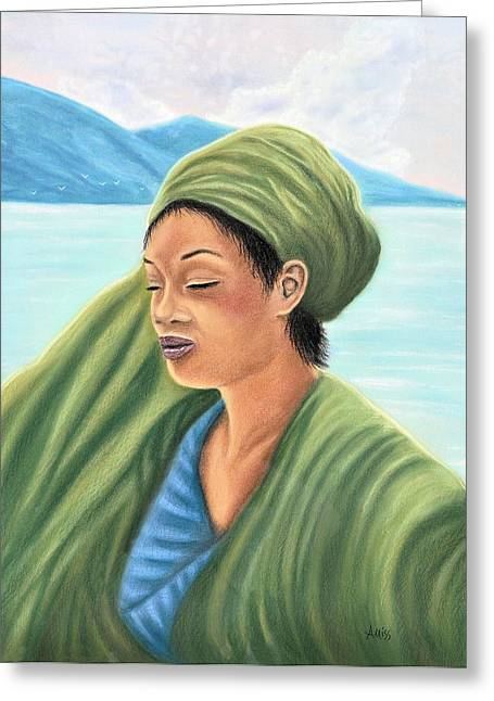 African-americans Pastels Greeting Cards - Dreams Greeting Card by Jan Amiss
