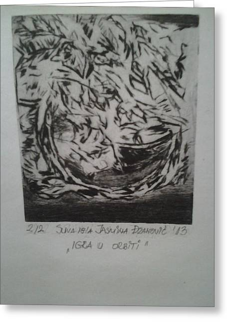 Drypoint Greeting Card by Jasmina