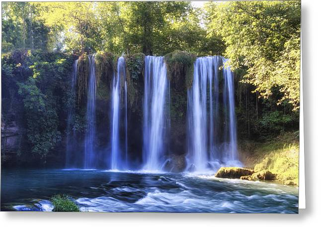 Asien Greeting Cards - Duden Waterfall - Turkey Greeting Card by Joana Kruse