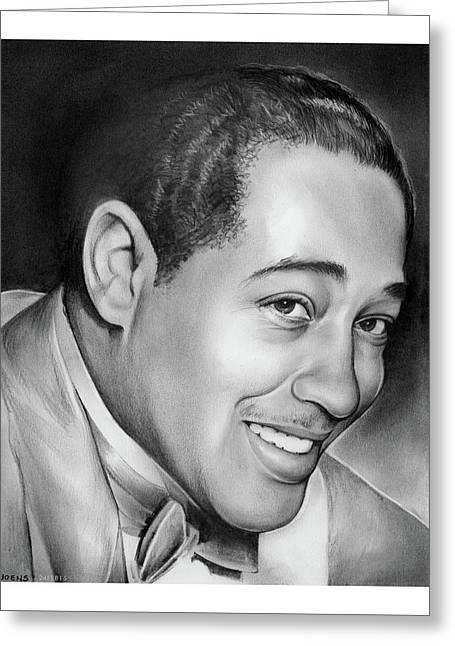 Duke Ellington Greeting Card by Greg Joens