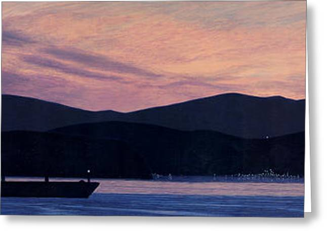 Blue And Purple Sea Greeting Cards - Early Morning on the West Coast Greeting Card by Neil Woodward