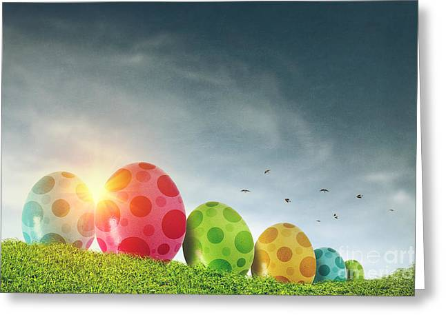 March Greeting Cards - Easter Eggs Greeting Card by Carlos Caetano