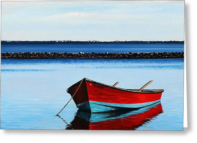 Eastpoint Red Greeting Card by Rick McKinney