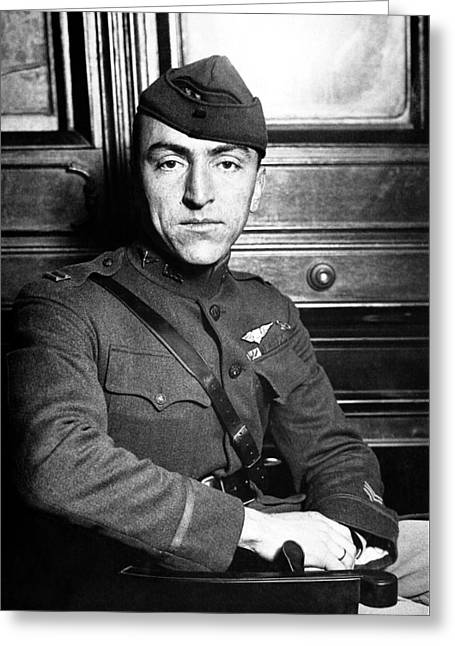 Wwi Greeting Cards - Eddie Rickenbacker Greeting Card by War Is Hell Store