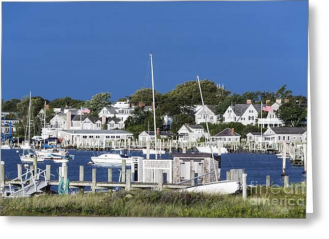 Boat Slip Greeting Cards - Edgartown Harbor Greeting Card by John Greim