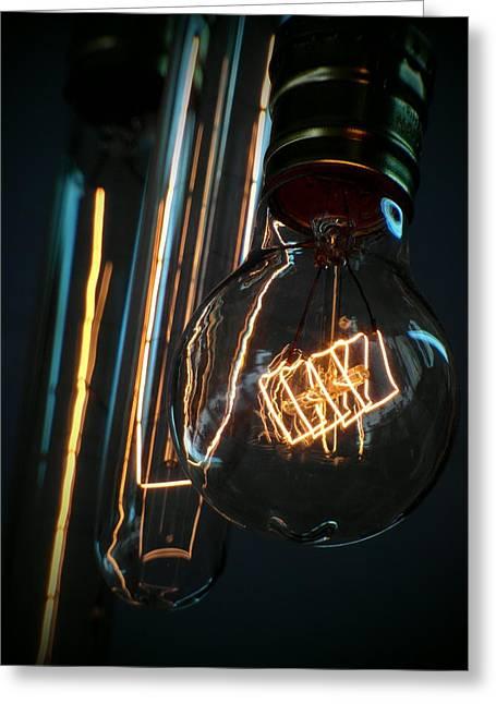 Edison Greeting Cards - Edison Lightbulbs Greeting Card by Ian Scholan