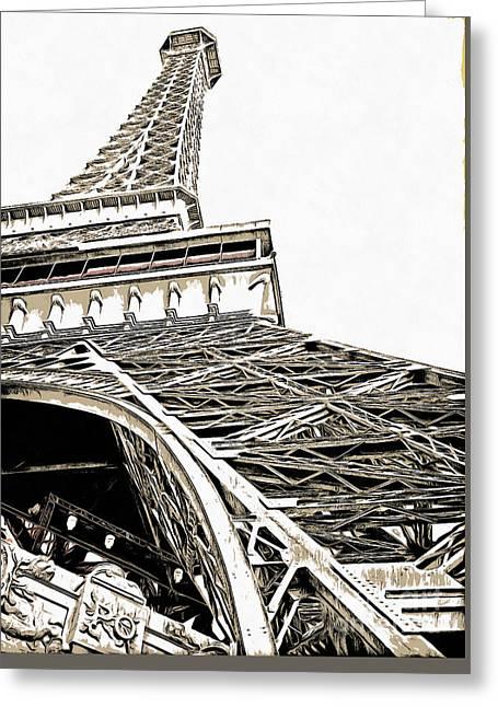 Eiffel Tower Greeting Card by Edward Fielding