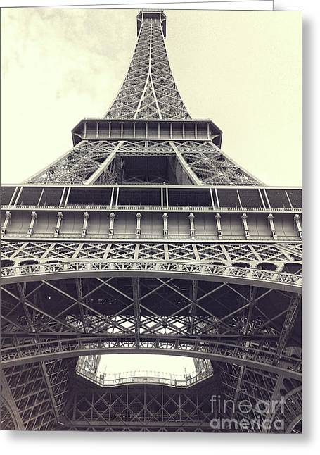 Greeting Cards - Eiffel Tower by the Seine Greeting Card by Ivy Ho