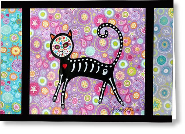 Kitten Prints Greeting Cards - El Gato Greeting Card by Pristine Cartera Turkus