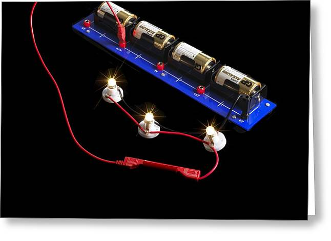 Component Greeting Cards - Electrical Circuit Greeting Card by Spl