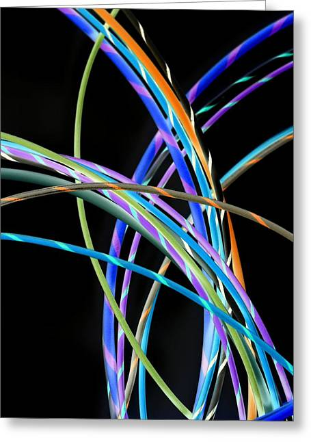 Electrical Wiring Greeting Cards - Electrical Wires Greeting Card by Tek Image