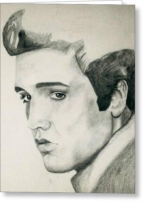 Elvis Presley Drawing Greeting Cards - Elvis Greeting Card by Mikayla Henderson