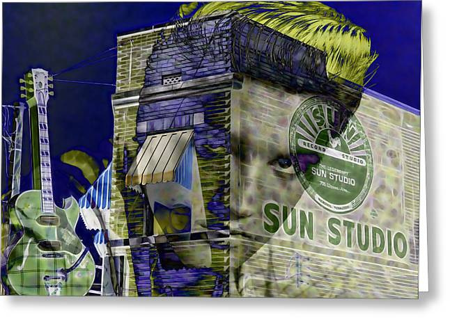 Gold Art Greeting Cards - Elvis Presley Sun Studio Collection Greeting Card by Marvin Blaine