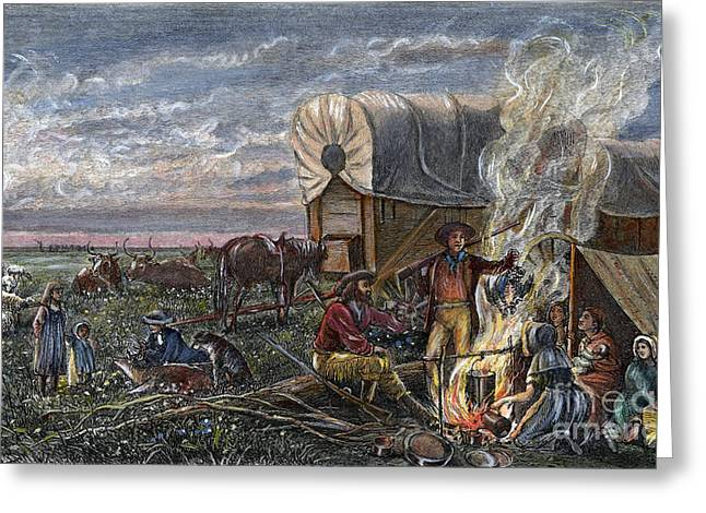 Westward Expansion Greeting Cards - Emigrants To The West Greeting Card by Granger