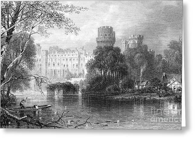 19th Century Architecture Greeting Cards - England: Warwick Castle Greeting Card by Granger