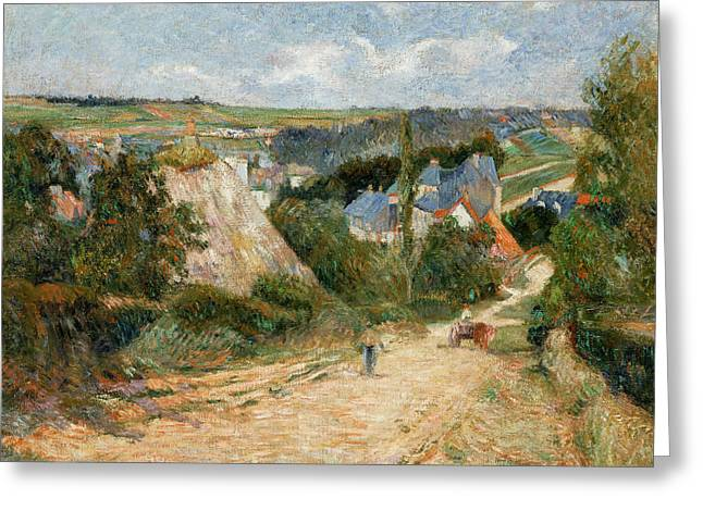 Gauguin Style Greeting Cards - Entrance to the Village of Osny Greeting Card by Paul Gauguin