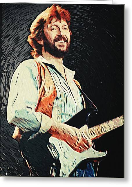 Eric Clapton Portrait Greeting Cards - Eric Clapton Greeting Card by Taylan Soyturk
