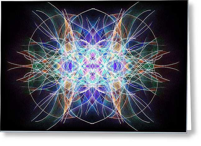 Sahasrara Greeting Cards - Ether Greeting Card by Alla Ilencikova