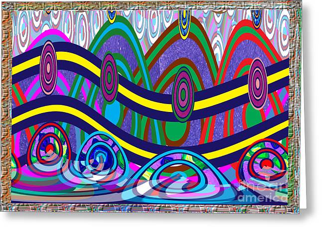 Abstract Digital Mixed Media Greeting Cards - Ethnic Wedding Decorations Abstract usring Fabrics Ribbons graphic elements Greeting Card by Navin Joshi