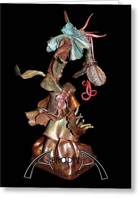 Flowers Sculptures Greeting Cards - Exotic Fantasy Greeting Card by Afrodita Ellerman