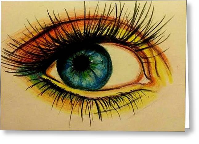 Eye Greeting Card by Kate