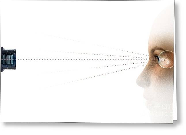 Face Recognition Photographs Greeting Cards - Eyetracking, Artwork Greeting Card by Claus Lunau