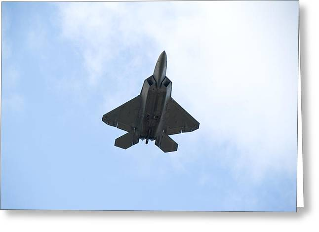 Mancave Greeting Cards - F-22 Raptor Greeting Card by Sebastian Musial