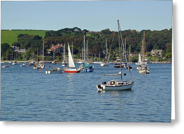 Seaside Greeting Cards - Falmouth Harbour Greeting Card by Rod Johnson