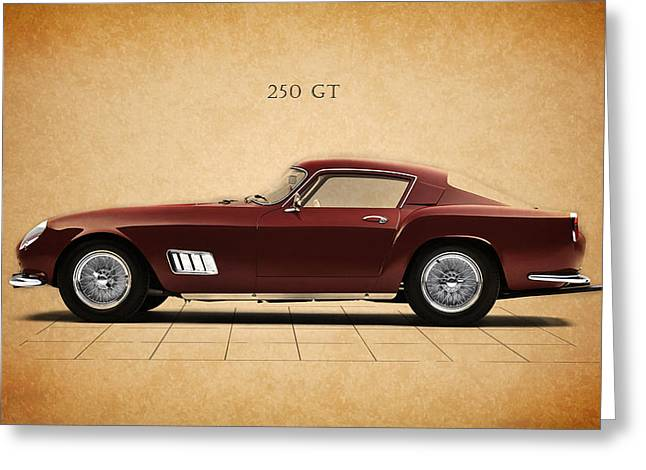 Ferrari Greeting Cards - Ferrari 250 GT Greeting Card by Mark Rogan