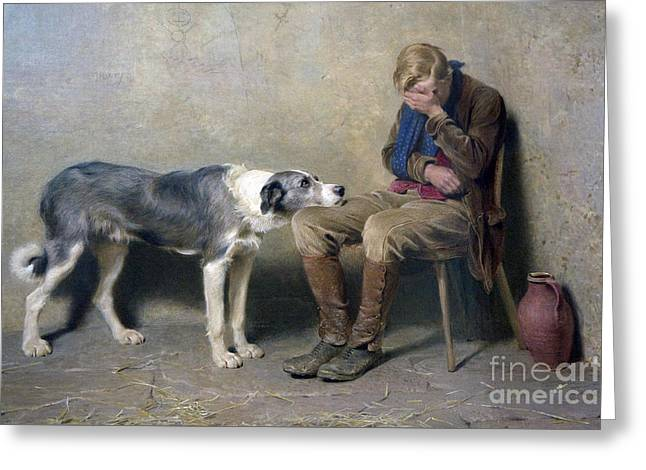 Fidelity Greeting Card by Briton Riviere