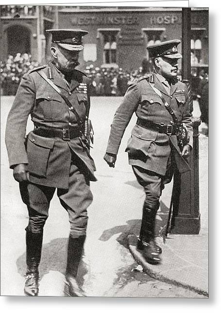 1916 Drawings Greeting Cards - Field Marshal Horatio Herbert Greeting Card by Vintage Design Pics