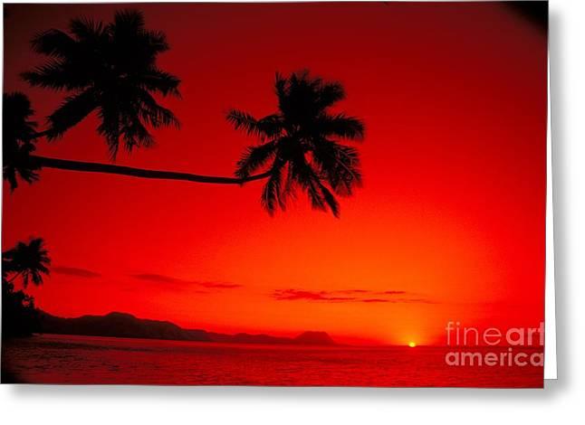 Fiji, Kadavu Island Greeting Card by Ron Dahlquist - Printscapes