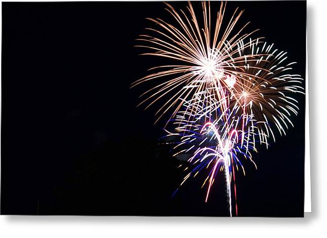 Festivities Greeting Cards - Fireworks Greeting Card by FL collection