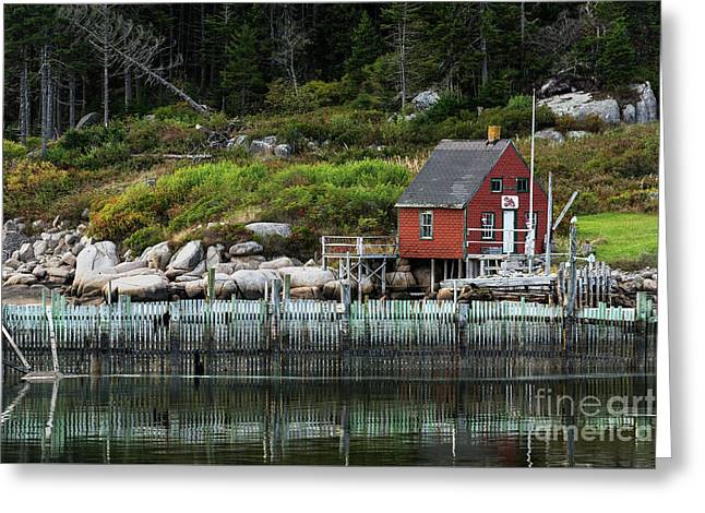 Fisherman's Shack Greeting Card by John Greim