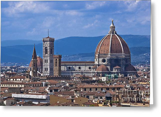 Fiorenza Greeting Cards - Florence Italy Greeting Card by Gunter Kirsch