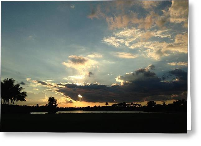 Florida Sunset Greeting Card by Liliya Marchenko-Breau