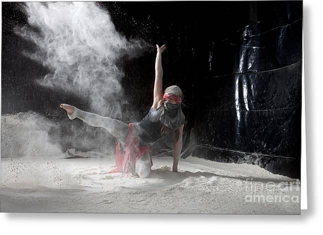 Flour Greeting Cards - Flour Dancing Series Greeting Card by Cindy Singleton