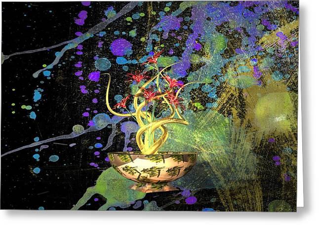 Louis Ferreira Art Greeting Cards - Flower Abstract Greeting Card by Louis Ferreira