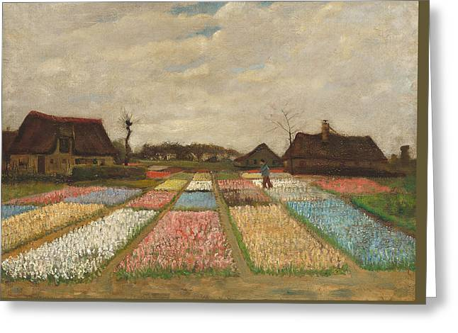 Impressionist Greeting Cards - Flower Beds in Holland Greeting Card by Vincent Van Gogh